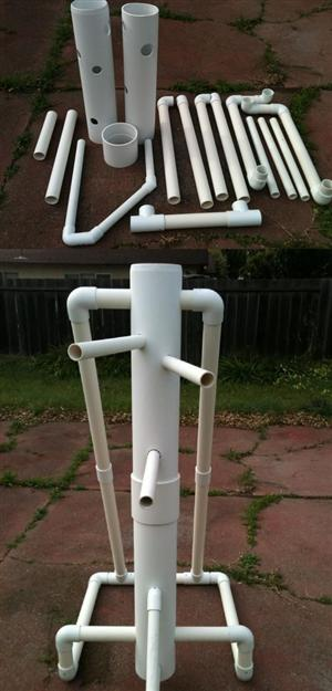 A Wing Chun wooden dummy like in PVC - Article image