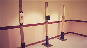 The makiwara and the poles exercise