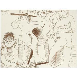 Un disegno di Pablo Picasso: da Monserrat alla Fortezza di Bard
