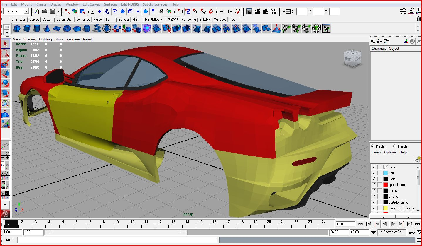 Arcadia club come modellare un 39 automobile 3d for Disegnare online 3d